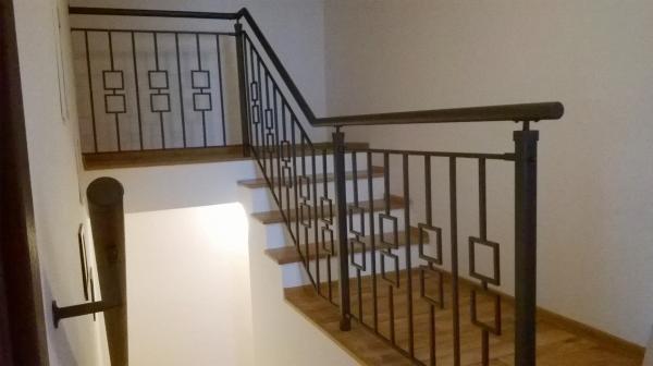 Kované zábradlí schody